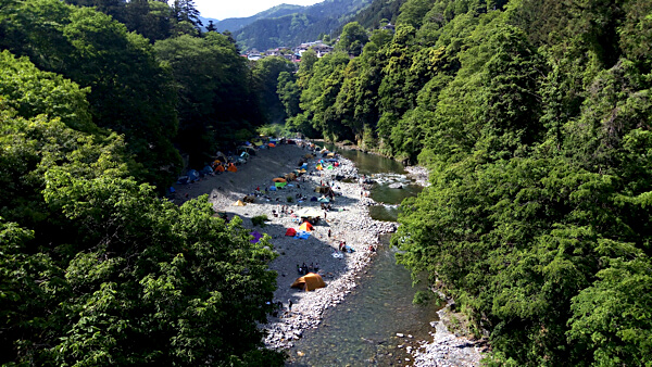 氷川キャンプ場_吊り橋