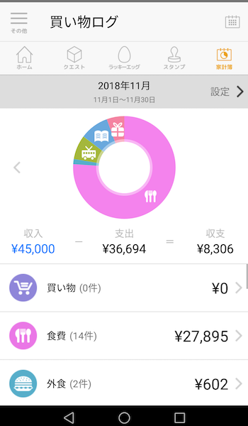 code・家計簿