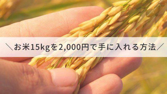 ふるさと納税_お米