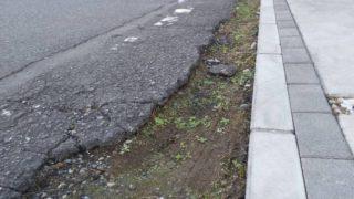 道路と敷地の段差