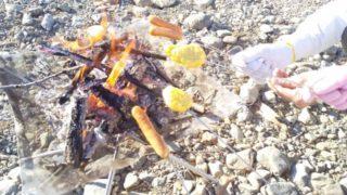 焚き火 ウインナー